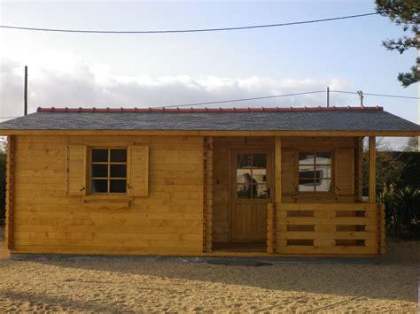 chalet habitable de loisirs 40m2 en bois en kit sans mezzanine