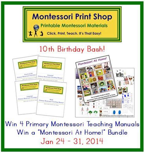 montessori printable shop montessori print shop s 10th birthday bash win 4 primary