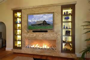 Dining Room Chandeliers Rustic marble fireplace tv wall with wenge custom frosted glass