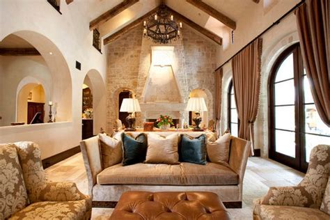 Feel Living Room by Wooden Beams And The Combination For A