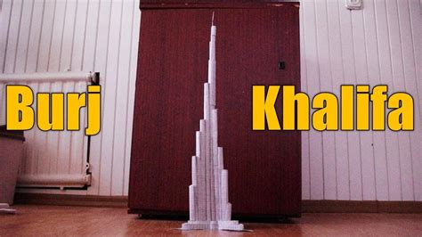 How To Make Burj Khalifa Out Of Paper - burj khalifa look what my friend did