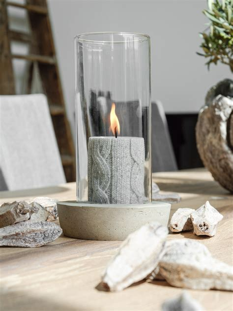 Feuerschale Mit Glas by Diy Windlicht Aus Beton Und Glas Mxliving