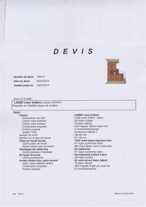 Cuisine Hacker Avis by Votre Avis Devis Cuisine Hacker 12 Messages
