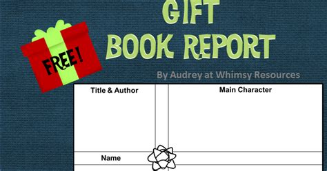 gifted book report whimsy resources gift book report