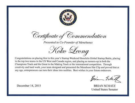 commendation certificate template 28 images 7 best