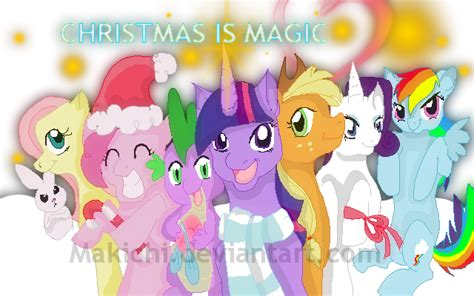 mlp fim merry christmas by makichi on deviantart