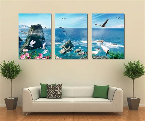 living room canvas 3 panel canvas art home decoration wall art beach canvas