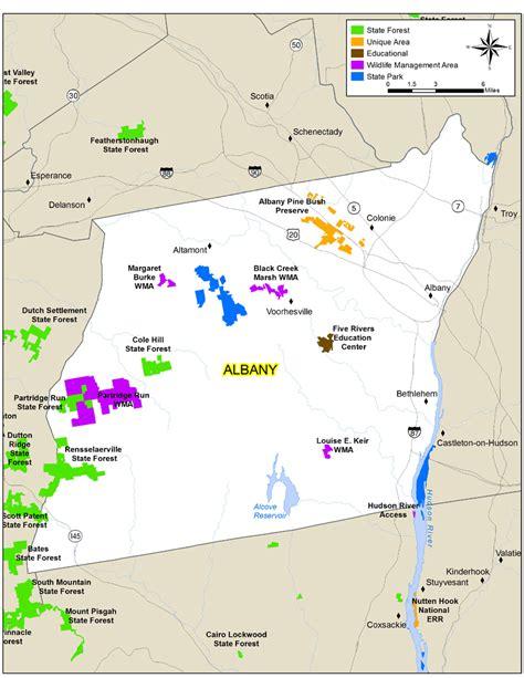 map albany ny albany county map nys dept of environmental conservation