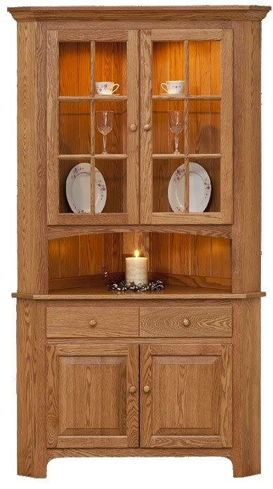 Corner Kitchen Hutch Cabinet by Corner Oak China Cabinet Foter