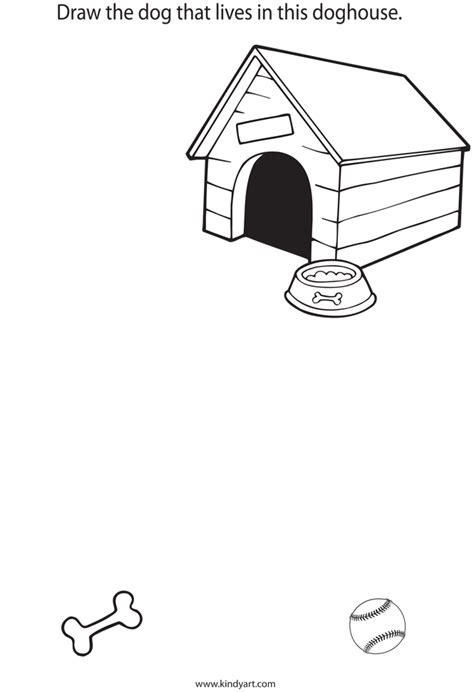 dog house sketch how to draw dog house
