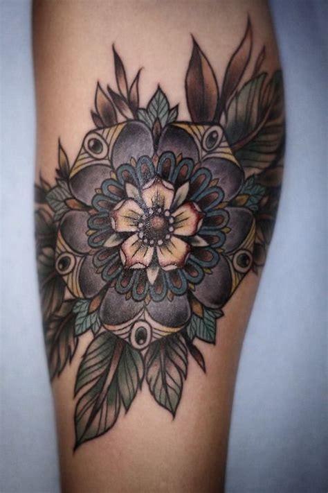 tattoo flower mandala flower tattoos and designs page 69