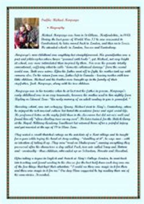 biography comprehension activity ks2 michael morpurgo 180 s biography 2 comprehension exercises