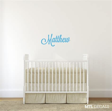Custom Wall Decals For Nursery Name Wall Decal Nursery Wall Sticker Personalized Vinyl Lettering Mtl Decals