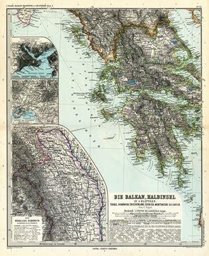 Adolf Stieler S Atlas 220 Ber Alle Theile Der Erde Und 252 Ber Das Weltgeb 228 Ude 1891