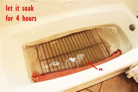 cleaning oven racks in bathtub cleaning oven racks make your oven food safe again