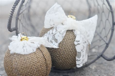 diy burlap ornaments aleene s glue products craft diy project adhesives