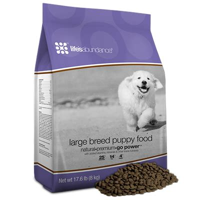 lifes abundance puppy food s abundance for large breed puppies now available best food for puppies