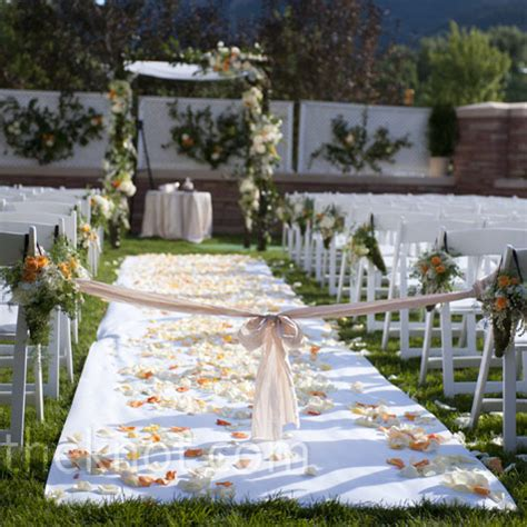 Wedding Aisle Runner Outdoor by Outdoor Wedding Aisle Runner Ideas Images