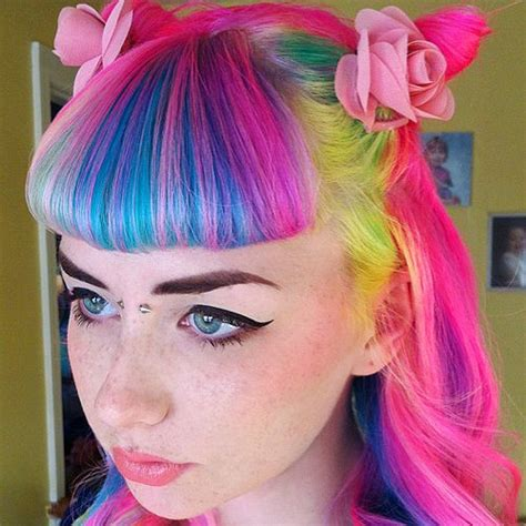 rainbow color hair ideas hair color popsugar celebrity uk