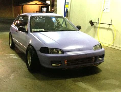 hatchback race cars sell used honda civic hatchback hatch turbo race car 1995