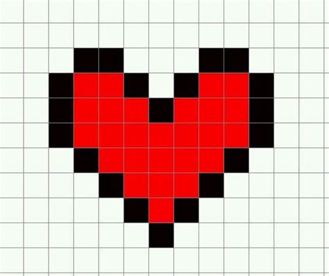minecraft template heart by emoxdmon on deviantart