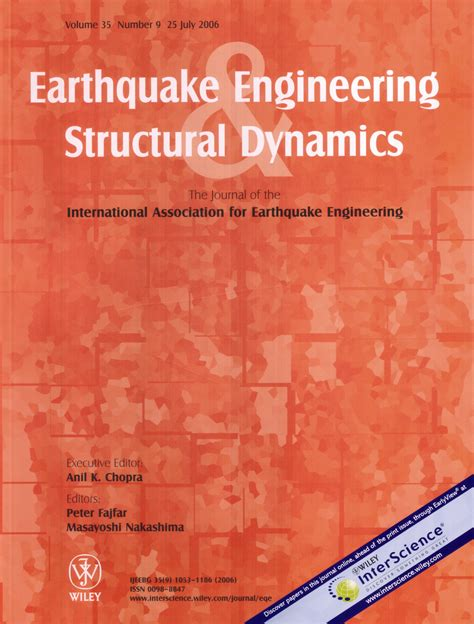 earthquake engineering and structural dynamics iaee statutes