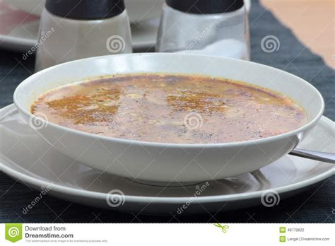chitterlings with marjoram stock photo image 48770622