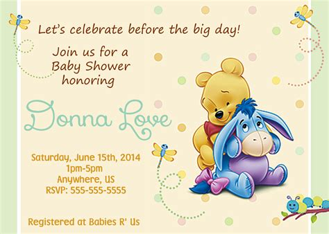Winnie The Pooh Birthday Invitations Templates by Winnie The Pooh Baby Shower Invitations Templates