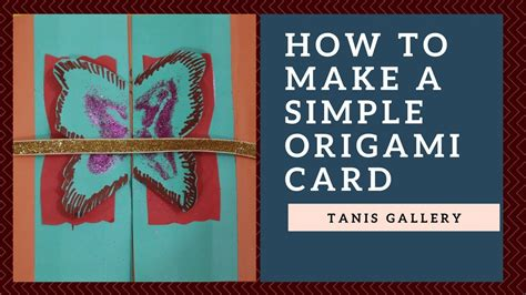 How To Make An Origami Card - how to make simple origami card for s day origami
