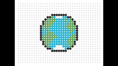 planet bead hama bead earth nature series 1