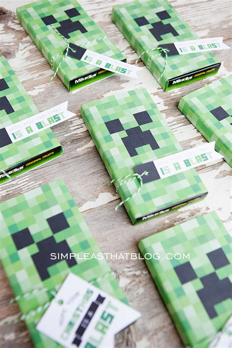 printable minecraft gift tags  christmas gift idea