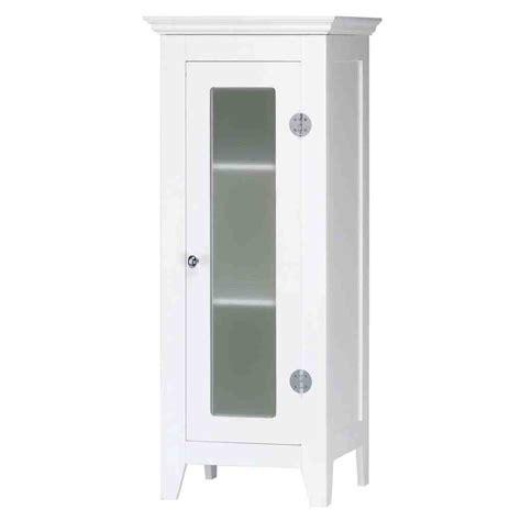 small white bathroom floor cabinet