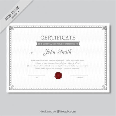decorative certificate of achievement template vector
