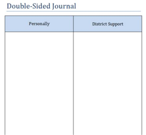 sided journal entry template si2013planning building pd practice page