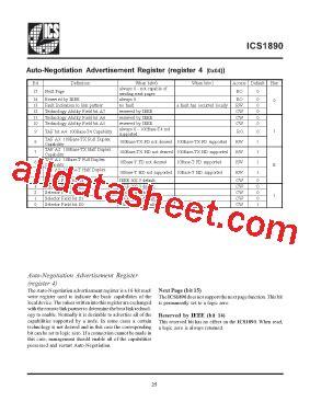 integrated circuit systems ics ics1890 datasheet pdf integrated circuit systems