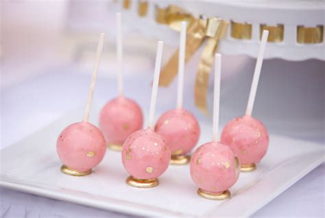 bridal shower cake pops recipe this bridal shower marries pretty pink with glitzy gold