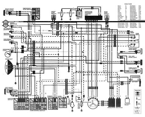 honda cb400 hawk i electrical wiring diagram circuit wiring diagrams