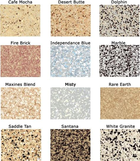 Basic Epoxy Floor Colors   Garage and Storage Plus