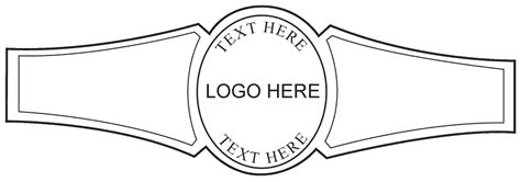 custom cigar band template 01 personal cigar bands