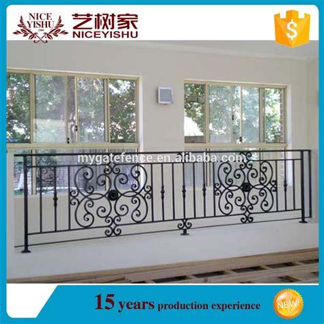 Yishujia usine véranda balustrade en fer/fer forgé rampe d