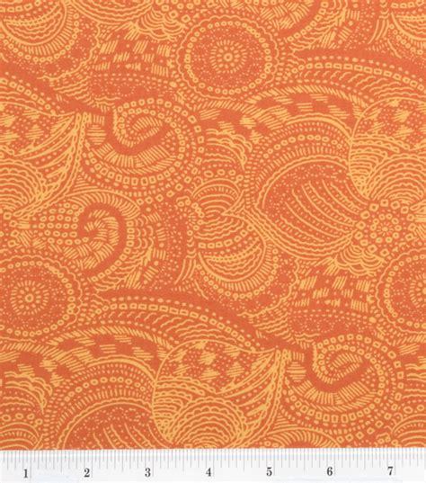 calico upholstery keepsake calico fabric nicole tangerine jo ann