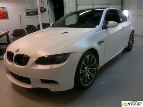 Matte White Bmw M3 Vehicle Customization Shop Vinyl