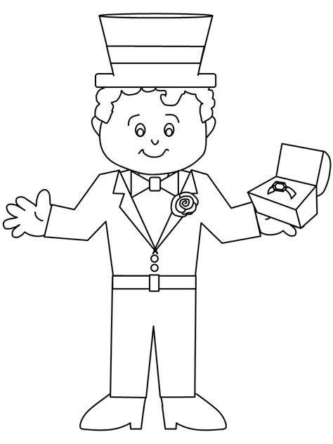 bride and groom coloring pages coloring pages