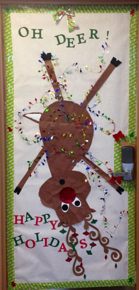 oh deer door decoration oh deer reindeer door school
