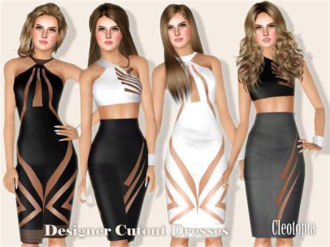 design clothes the sims 4 cleotopia s designer cutout pencil dresses
