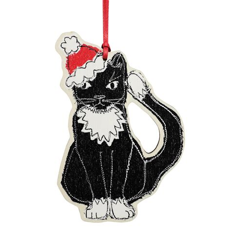 dingly dangly decoration christmas cat by poppy treffry