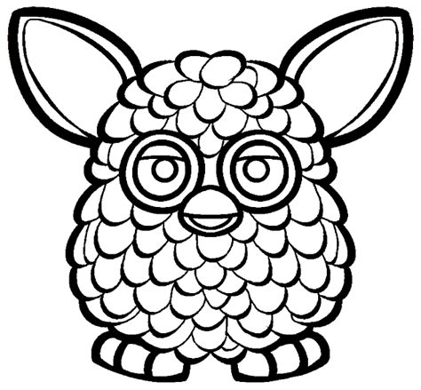 coloring books Furby Boom to print and free download