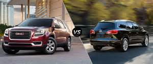 Buick Enclave Or Gmc Acadia Truedelta Ford Explorer Vs Buick Enclave Price Comparison