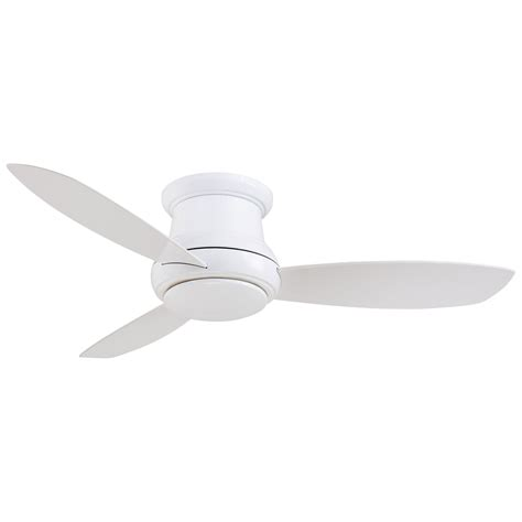 52 inch ceiling fan minka aire concept ii white 52 inch flush led ceiling fan