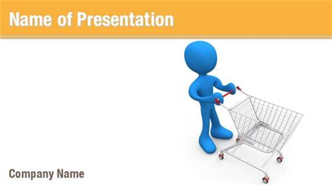Man With Shopping Cart Powerpoint Templates Man With Shopping Ppt Templates Free